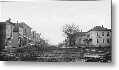 Downtown Hudson Iowa Metal Print