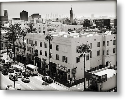 Downtown In The Distance Metal Print by Ricky Barnard