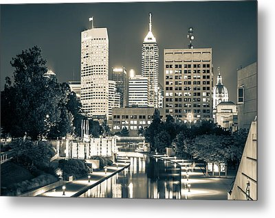 Downtown Indianapolis Skyline Metal Print
