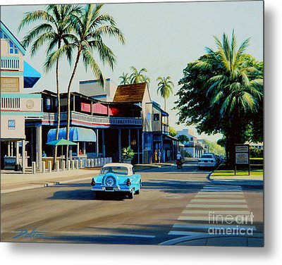 Downtown Lahaina Maui Metal Print by Frank Dalton