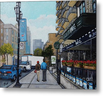 Downtown Montreal Metal Print by Reb Frost