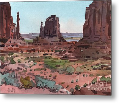 Downtown Monument Valley Metal Print