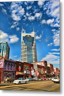 Downtown Nashville Blue Sky Metal Print