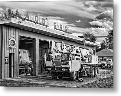 Downtown Northampton - Harold's Garage Metal Print by HD Connelly