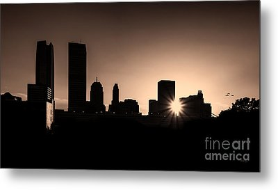 Metal Print featuring the photograph Downtown Oklahoma City by Betty LaRue