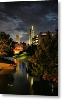 Downtown Omaha Metal Print