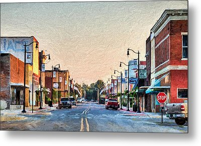 Downtown Paragould Metal Print by JC Findley