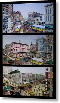 Downtown Portsmouth 1948 Metal Print