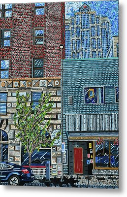Downtown Raleigh - West Martin Street Metal Print by Micah Mullen