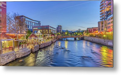Metal Print featuring the photograph Downtown Reno Along The Truckee River by Scott McGuire