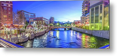 Metal Print featuring the photograph Downtown Reno Summer Twilight by Scott McGuire