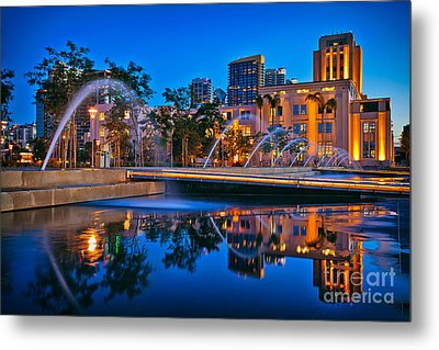 Downtown San Diego Waterfront Park Metal Print