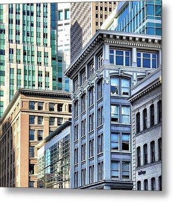 Downtown San Francisco Metal Print by Julie Gebhardt