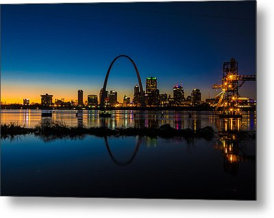 Downtown St. Louis And The Gateway Arch Metal Print