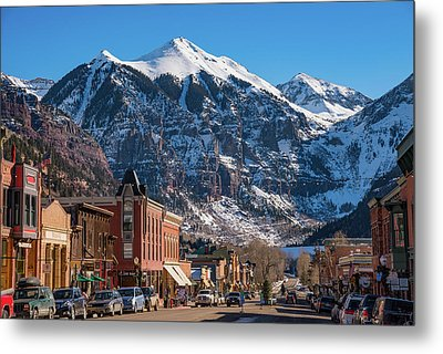 Downtown Telluride Metal Print
