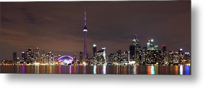 Downtown Toronto - Lit Up Metal Print