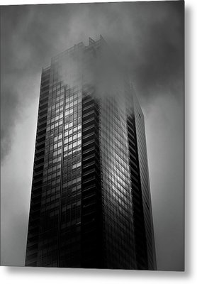 Downtown Toronto Fogfest No 24 Metal Print by Brian Carson