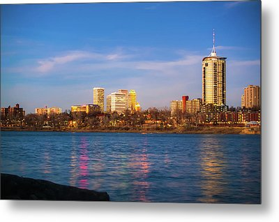 Metal Print featuring the photograph Downtown Tulsa From A Distance - Oklahoma Skyline  by Gregory Ballos