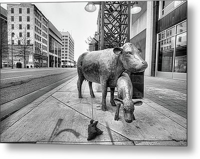 Metal Print featuring the photograph Downtown Wichita by JC Findley