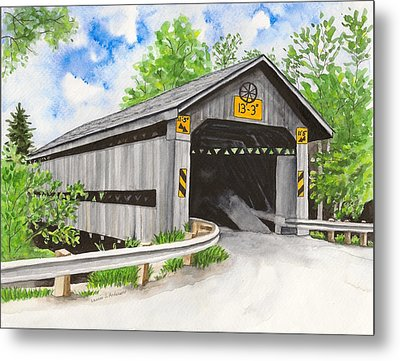 Doyle Road Bridge Metal Print