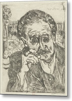 Dr. Gachet Man With A Pipe 1890 Metal Print by Vincent Van Gogh