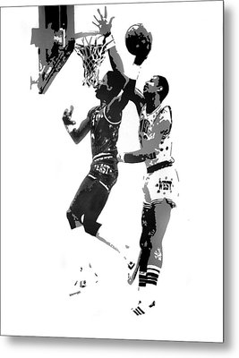 Dr. J And Kareem Metal Print by Ferrel Cordle