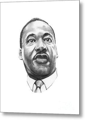 Dr. Martin Luther King Metal Print by Murphy Elliott