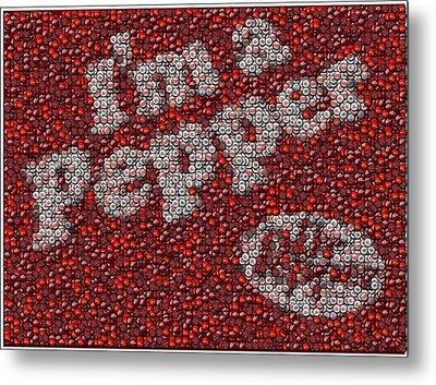 Dr. Pepper Bottle Cap Mosaic Metal Print