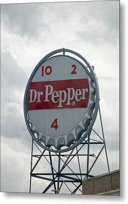Dr. Pepper Sign - Roanoke Virginia Metal Print by Suzanne Gaff