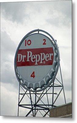 Dr. Pepper Sign - Roanoke Virginia Metal Print