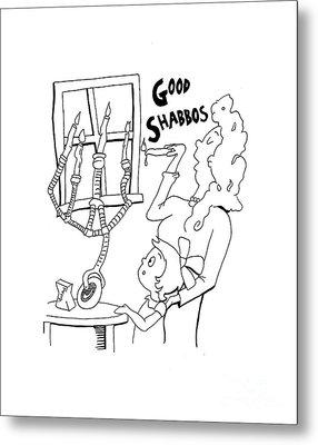 Dr Seuss Good Shabbos Metal Print by Anshie Kagan