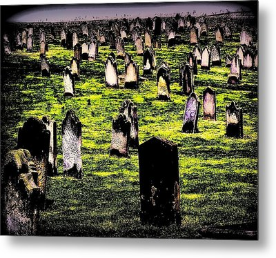 Dracula Cemetery In Whitby England Metal Print by Jen White