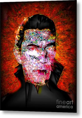 Metal Print featuring the photograph Dracula The Vampire 20170415 by Wingsdomain Art and Photography