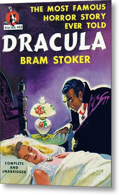 Metal Print featuring the painting Dracula by Unknown Artist