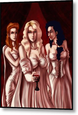 Dracula's Brides Metal Print by Jessica Gaude