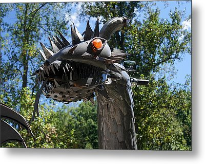 Dragon At The Dragon Metal Print by Laurie Perry