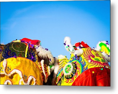 Metal Print featuring the photograph Dragon Dance by Bobby Villapando