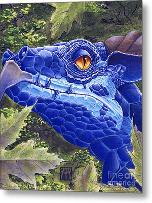 Dragon Eyes Metal Print by Melissa A Benson