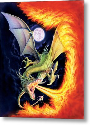 Dragon Fire Metal Print by The Dragon Chronicles