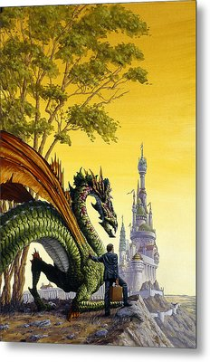 Dragon For Sale Metal Print by Richard Hescox