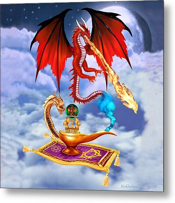Dragon Genie Metal Print by Glenn Holbrook