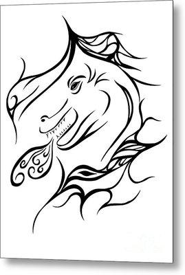 Dragon Metal Print by Jamie Lynn