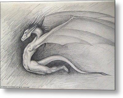 Dragon Man Metal Print by Shaun McNicholas
