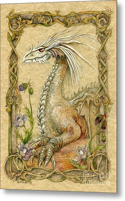 Dragon Metal Print by Morgan Fitzsimons