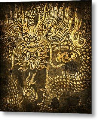 Dragon Pattern Metal Print