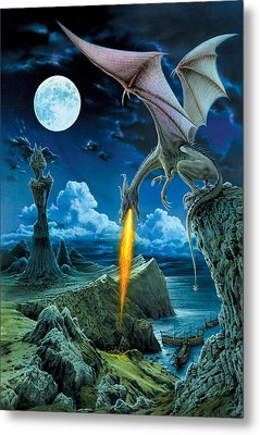 Dragon Spit Metal Print