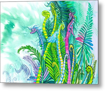 Dragon Sprouts Metal Print by Adria Trail