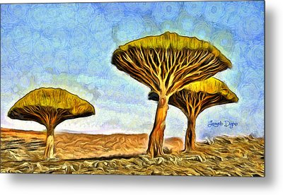 Dragonblood Trees - Da Metal Print by Leonardo Digenio