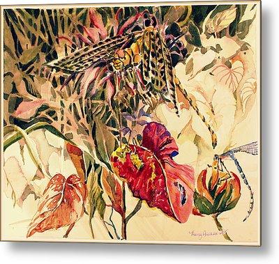 Dragonflies Metal Print by Mindy Newman