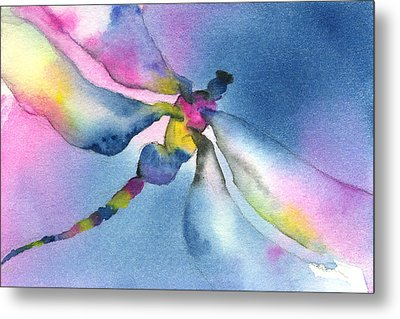 Dragonfly Blues Metal Print by Gladys Folkers